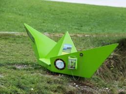 Lehrpfad-Station zu Moorwasser und Wasserqualität